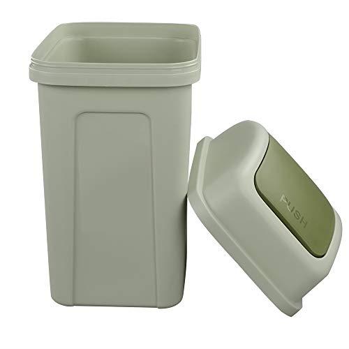 Nicesh 2.6 Gallon Swing Top Trash Can, 10 L...