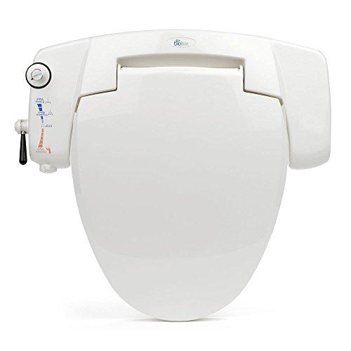 BB-I3000 BioBidet Premium Non-electric Bidet Seat for Elongated Toilets, White
