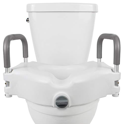 Vive Raised Toilet Seat - 5' Portable, Elevated...