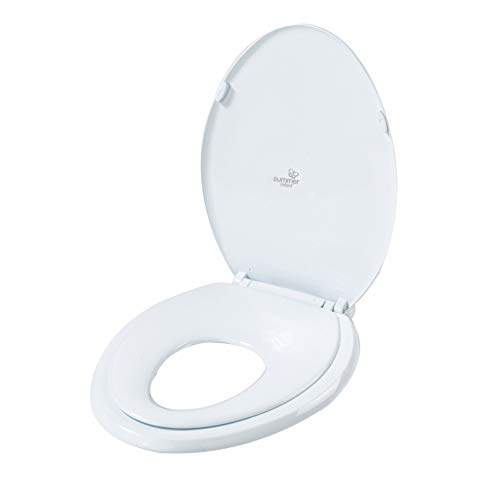 Summer 2-in-1 Toilet Trainer (Oval) - Potty Training Seat - Toddler & Adult Space-Saving Potty Topper
