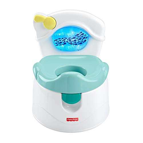 Fisher-Price Sea Me Flush Potty, Training Chair with Music and Lights for Infant and Toddler