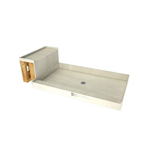 Tile Redi USA - Base'N Bench P3648C-RB36-KIT Tileable Shower Pan & Seat - Flashing & Epoxy Included 60 Inches x 36 Inches...