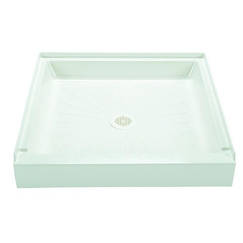 Mustee 3232M Durabase Fiberglass 32-in x 32-in Shower Base, White