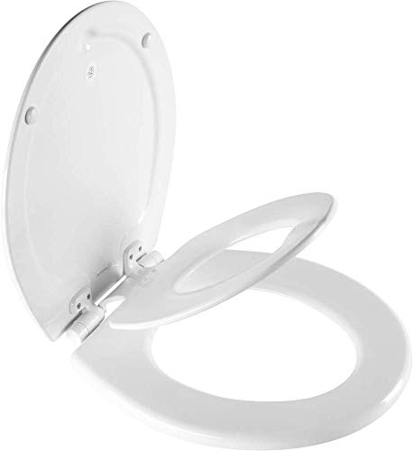 MAYFAIR 888SLOW 000 NextStep2 Toilet Seat with Built-In Potty Training Seat, Slow-Close, Removable that will Never Loosen, ROUND,...