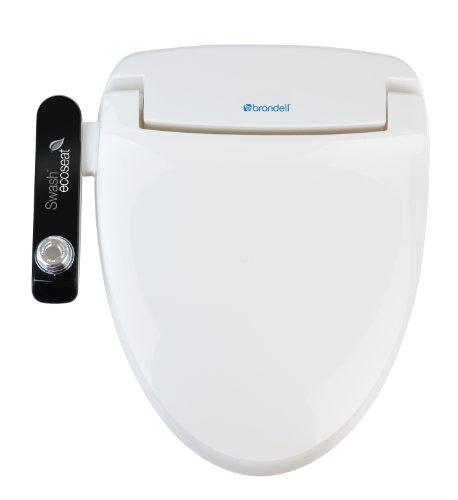 Brondell Inc. S100-EW Brondell Swash Ecoseat 100 Bidet Elongated Toilet Seat, White