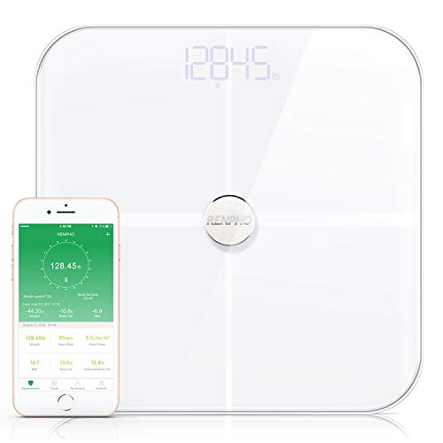RENPHO Premium Smart Heart Rate Body Fat Scale Body Analyzer Monitor with 15 Essential Body Composition Measurement, Bluetooth...