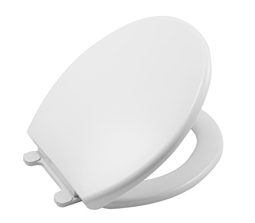 LDR 050 1020WT-SC Slow Closing Plastic Toilet Seat for Round Toilets Solid White