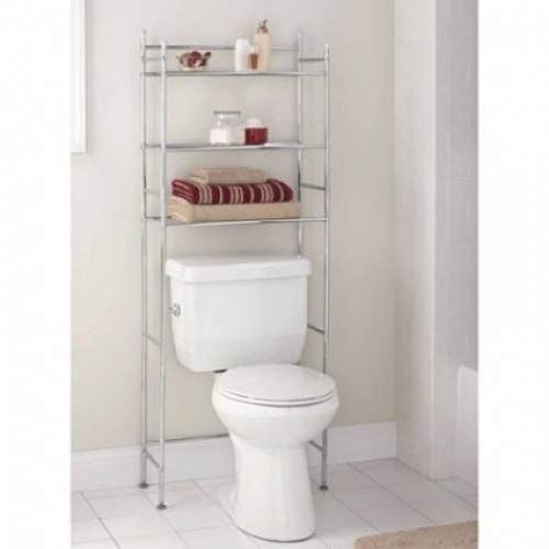 Mainstays 3-Shelf Bathroom Space Saver Chrome Finish