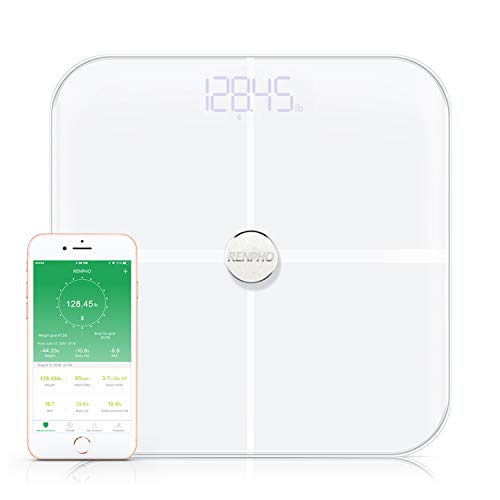 RENPHO Premium Smart Body Fat Scale Body Analyzer Monitor with 15 Essential Body Composition Measurement, Bluetooth Digital Weight...
