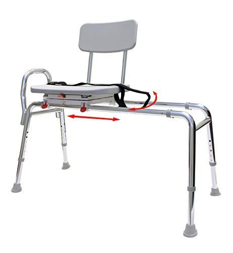 Swiveling and Sliding Bathtub Transfer Bench and Shower Chair (Reg) (77662). Swiveling and Sliding system, Multiple Safety...