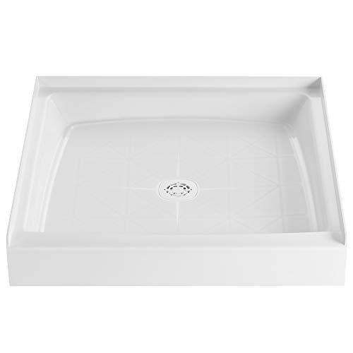 PROFLO PFSB3434WH PROFLO PFSB3434 34' x 34' Single Curb Slip Resistant Shower Pan for Alcove Insta