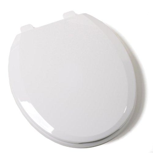 Comfort Seats C3B3R7S00 EZ Close Standard Plastic Toilet Seat, Round, White