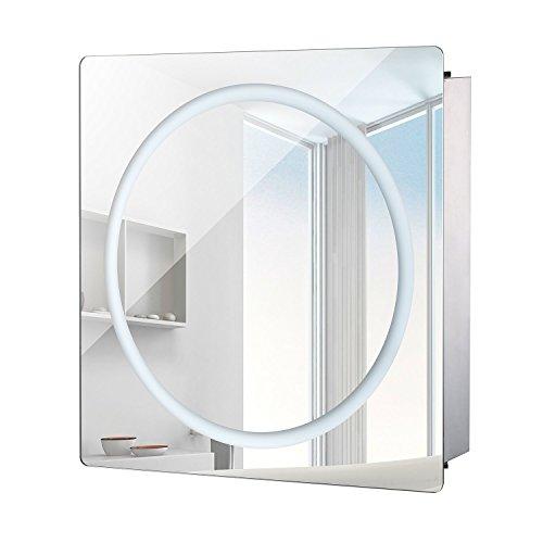 HOMCOM Vertical 28' LED Illuminated Bathroom...