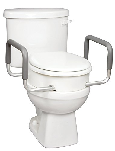 Carex 3.5 Inch Raised Toilet Seat with Arms - For...