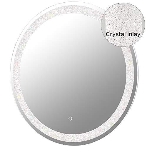 MAGGIIC 30 INCH Round LED Bathroom Light Vanity...