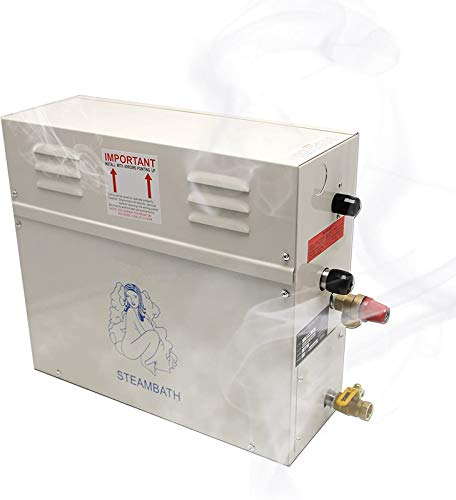 CGOLDENWALL 6KW Luxury Steam Generator Shower Sauna Bath Home SPA Steam Bath Generator with waterproof Control 95-131℉ For...