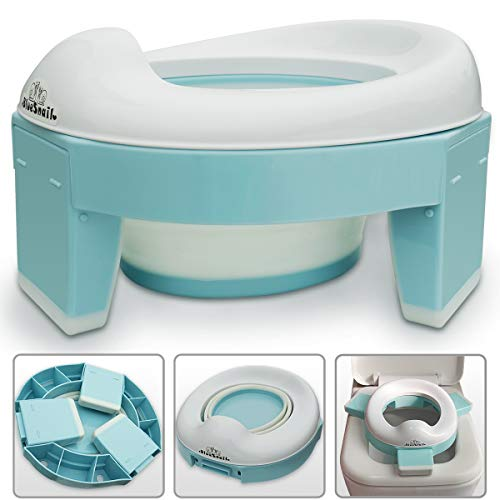 3-in-1 Go Potty for Travel, Portable Folding Compact Toilet Seat,Potty Training Toilet Chairs for Toddler Boys & Girls with...
