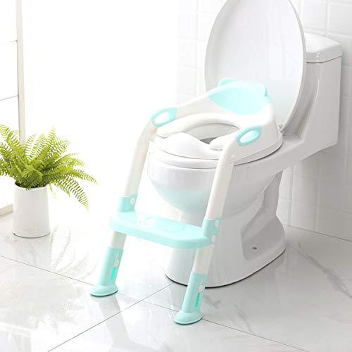 Potty Training Seat with Step Stool Ladder,SKYROKU Potty Training Toilet for Kids Boys Girls Toddlers-Comfortable Safe Potty Seat...
