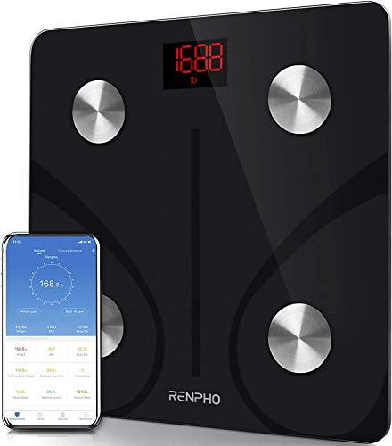 RENPHO Body Fat Scale Smart BMI Scale Digital Bathroom Wireless Weight Scale, Body Composition Analyzer with Smartphone App sync...