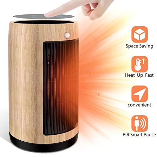 Electric Space Heater 1500W Portable Smart control,Touch panel, PIR Motion Sensor, Function 3 Modes with Overheat & Tip-over Shut...