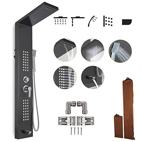 Happybuy Shower Panel Tower System Stainless Steel...