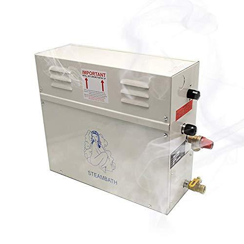 CGOLDENWALL 6KW Steam Generator Shower Sauna Bath Home Spa Steam Bath Generator 220V For Sauna bath home SPA shower suitable space...