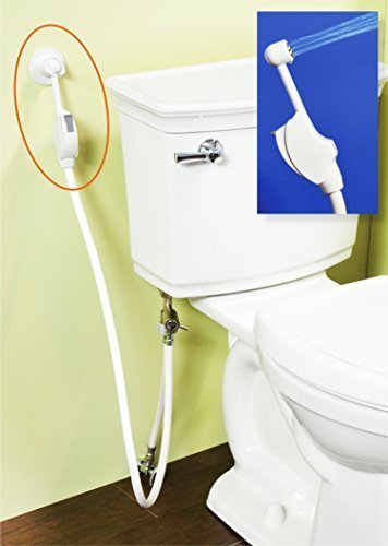 Mrs.Bidet White Spray Attachment For Toilet...