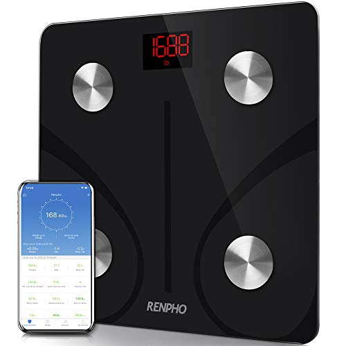 RENPHO Body Fat Scale Smart BMI Scale Digital Bathroom Wireless Weight Scale, Body Composition Analyzer with Smartphone App sync...