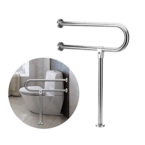 Handicap Rails Grab Bars Toilet Rail Bathroom Support For Elderly Bariatric Disabled Stainless Steel Commode Medical Accessories...