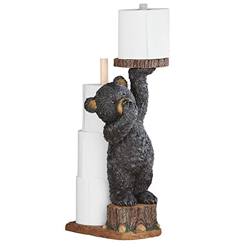 Collections Etc Northwoods Bear Cub Toilet Paper Holder, 22' H