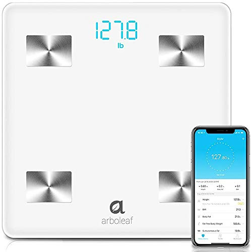 Arboleaf Digital Scale - Bluetooth Smart Scale Bathroom Weight Scale, Body Fat Monitor, 10 Key Composition, iOS Android APP,...
