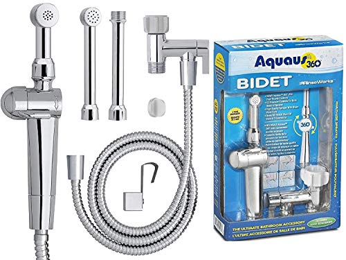RinseWorks - Aquaus 360 Patented Hand Held Bidet Sprayer - NSF cUPC Certified for Legal Installation - 2 Backflows – Dual...