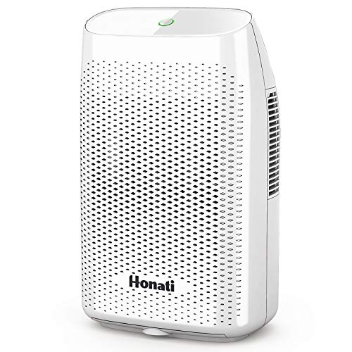 Honati Home Dehumidifier, 2000ml Ultra Quiet Small Portable Dehumidifiers with Auto Shut Off for Basement, Bedroom, Bathroom, Baby...