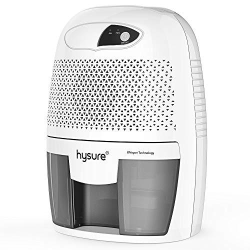 Hysure Household Portable Dehumidifier, 1400 Cubic Feet (150 sq ft), Compact Portable Damp Air Mold Moisture in Home Kitchen...