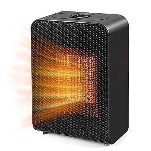 Portable Space Heater, Indoor 750W/1500W Ceramic Electric Heater for Home/Office/Bedroom and Bathroom with Overheat Protection &...