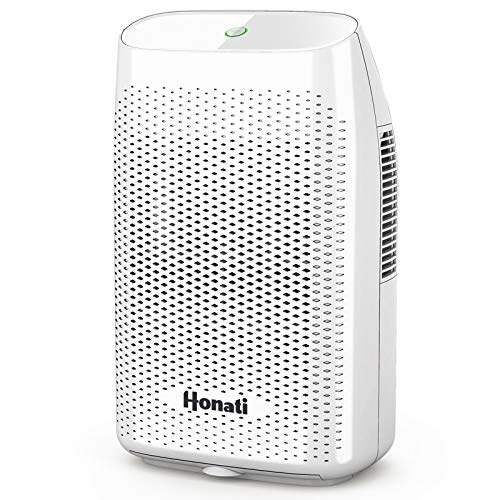 Home Dehumidifier, 2500 Cubic Feet (269 sq ft) 2000ml Ultra Quiet Small Portable Dehumidifiers with Auto Shut Off for Basement,...